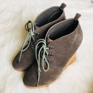 Express Wedge Booties